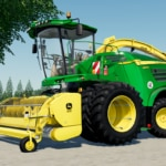 Close up of the John Deere 8000 Series forage harvester mod for Farming Simulator 19