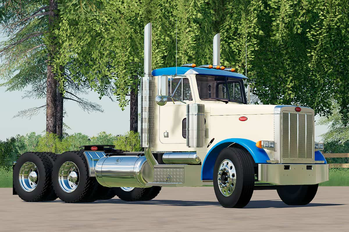 Fs19 Mods Peterbilt 379 Day Cab Semi Truck Yesmods