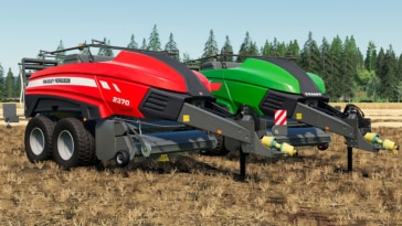 A close up of the AGCO High-Density Baler (2370 HD and Squadra 1290 UD) mod for Farming Simulator 19