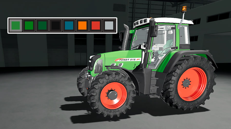 The color options for the Fendt 800 Vario TMS mod