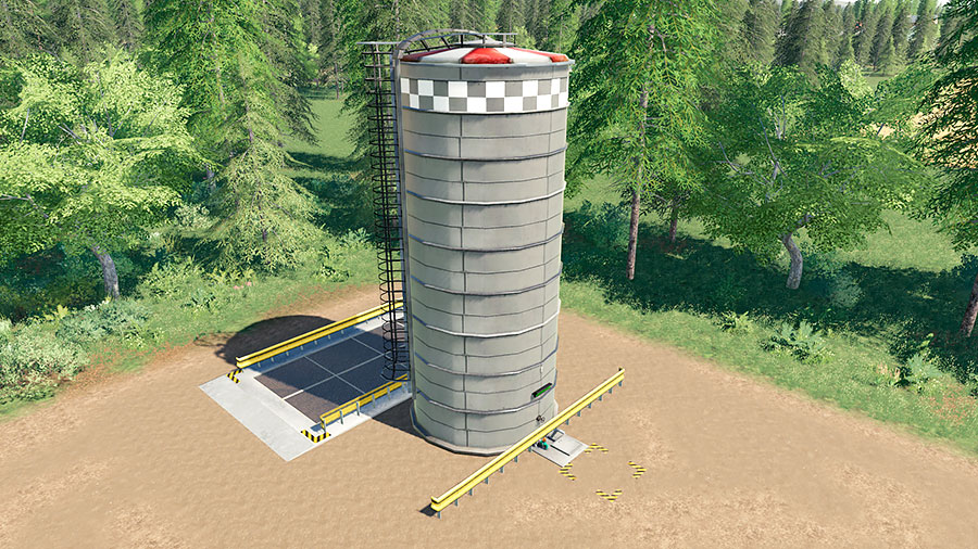 An overview image of the placeable digester silo by Stevie
