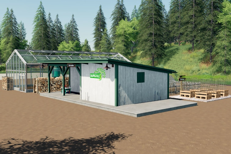 An overview image of the FS19 placeable tree nursery