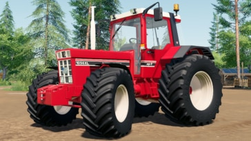 Close up of the International Harvest C-Series tractor mod for Farming Simulator 19