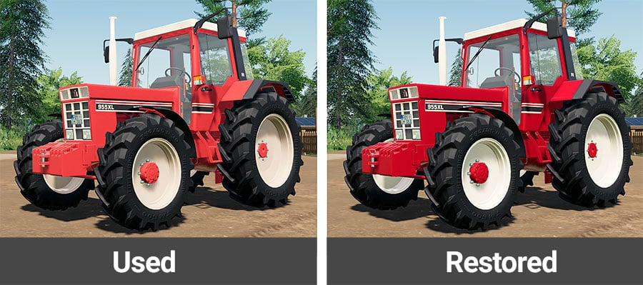 Two versions of the IH C series tractors in different color variations - Used and restored