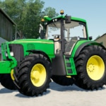 A close up of the John Deere 6020 Series Premium tractor mod