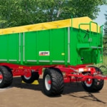 A close up of the Kröger Agroliner HKD 302 addon for Farming Simulator 19