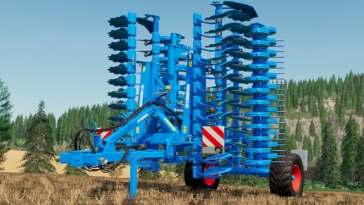 A close up of the Lemken Heliodor 9/600 disc harrow mod