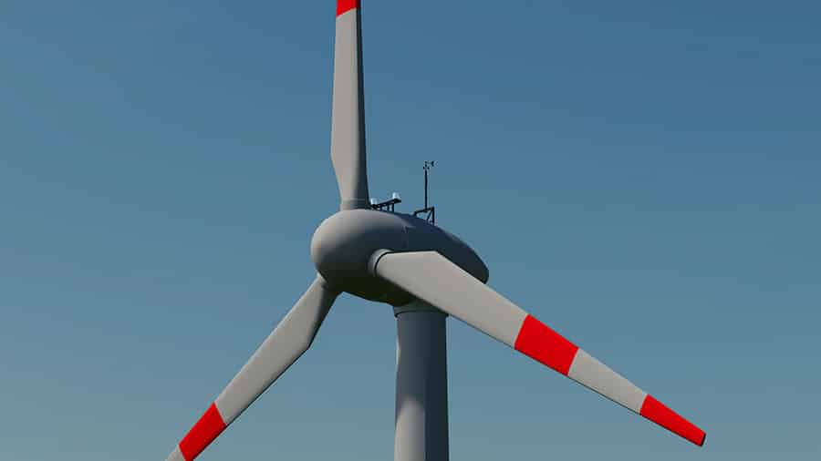 Close up of the Enercon wind turbine