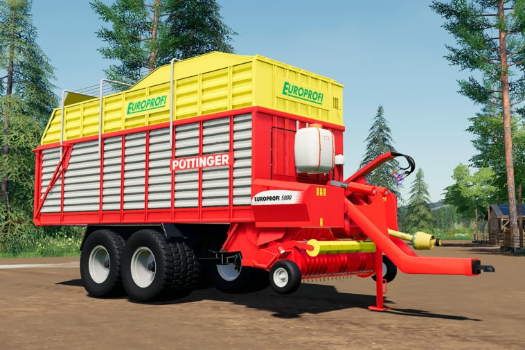 A close up of the Pöttinger EuroProfi 5000 loading wagon mod