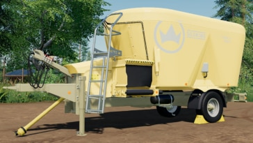 A close up of the SiloKing Trailedline Duo 1814 Multi mixer wagon for TMR and pig food