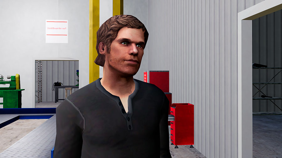 A 3D model that looks very much alike Dexter from the TV-show