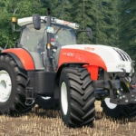 A close up of the Steyr addon by the FBM Team, for Farming Simulator 19