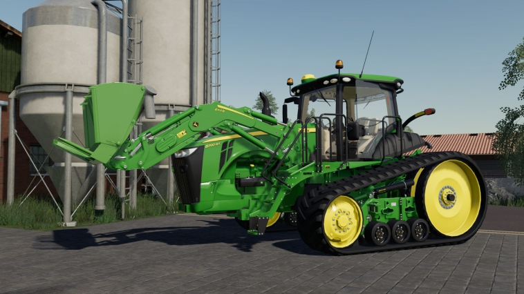 Farming Simulator 19 mod John Deere 8RT with frond loader